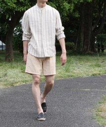 ADAM ET ROPE'/【CARREMAN/キャリーマン】リネンバンドカラーシャツ/ビッグシルエット/503120718