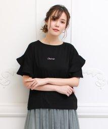 SocialGIRL/フリル袖Tシャツ/500955717