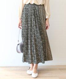 SCOTCLUB/Dignite collier(ディニテ コリエ) フラワーパターンプリーツスカート(ベージュ)/503080386