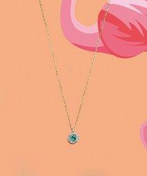 VA VENDOME AOYAMA/K10イエローゴールド エメラルド  ダイヤモンド取り巻きネックレス/503109810