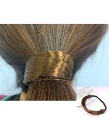 seiheishop/ヘアゴム ヘアアクセサリー レディース用 まとめ髪 金具なし かつら 伸縮 デイリー ブラック/503118356