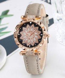 miniministore/腕時計 レディース ラインストーン フェイクレザー ウォッチ 花柄 きらきら ベルト 輝く 結婚式/503120491