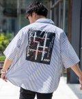 Nylaus/LOVE HEAVEN ビッグシルエット ストライプ柄 バックプリント 半袖 シャツ/503121936