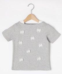 3can4on(Kids)/【90~140cm】天竺チュールリボンTシャツ/503122230
