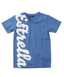 GLAZOS/天竺・接触冷感ビックロゴVネック半袖Tシャツ/503122313