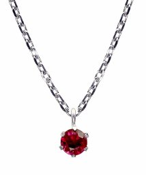JEWELRY SELECTION/SV 天然ルビー 0.2ct 6本爪ネックレス/503122327