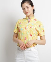 adabat/【UVカット/防透け】トロピカルフルーツプリント半袖ポロシャツ/503122632