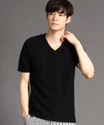 NICOLE CLUB FOR MEN/タックボ-ダ-VネックTシャツ/503074452