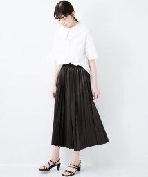 haco!/コーデが一気に引き締まるフェイクレザー風プリーツスカート by laulea/503093747