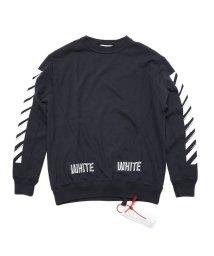 OFF-WHITE/OFF-WHITE 3D WHITE CREWNECK オフホワイト スウェット クルーネック  DM20014617 メンズ/503109103