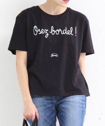 MELROSE Claire/【Shaman】オーバーサイズロゴプリントTシャツ/503109123