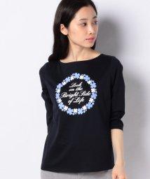 MADAM JOCONDE/【洗える】コットン天竺 七分袖Tシャツ/503113945