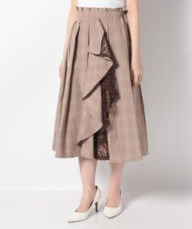 axes femme/レースラッフル×プリーツスカート/503114961