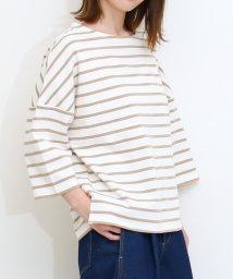 SocialGIRL/ドロップショルダーロングTシャツ七分袖/503124046
