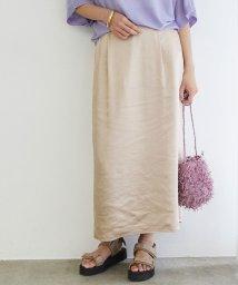 ROPE'/【店舗限定】サテンIラインマキシスカート/503082179