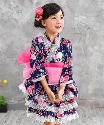 子供服Bee/選べる11柄 浴衣ドレス4点セット/503124465
