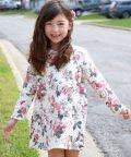 子供服Bee/総花柄 Aラインカラバリ長袖ワンピース【裏起毛】/503124503