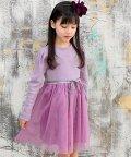 子供服Bee/切り替えチュールワンピース/503124561