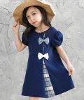 子供服Bee/リボン付き半袖ワンピース/503124584