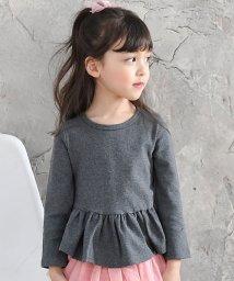 子供服Bee/無地 裾フリル プルオーバー ぺプラムTシャツ/503124649