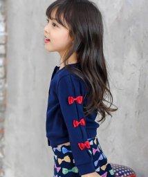 子供服Bee/【裏起毛】 リボン付き 長袖カーディガン/503124680
