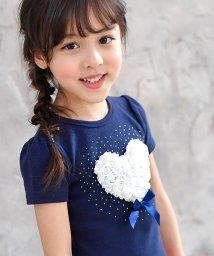 子供服Bee/お花×ハート半袖トップス/503124762