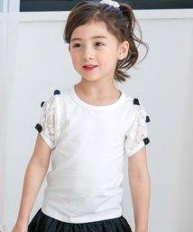 子供服Bee/リボン×レーススリーブトップス/503124775