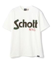 Schott/LEOPARD LOGO T-SHIRT/レオパードロゴTシャツ/503125474