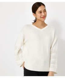 AZUL by moussy/【VERY5月号掲載】2WAY CROCHET SLEEVE KNIT/503125575