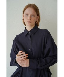 CLANE/BACK FLOWING FRILL SHIRT/503128193