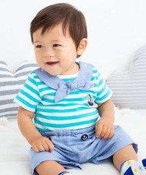 e-baby/マリンボーダーボディミニ+パンツセット/503049618