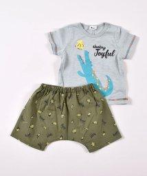 e-baby/リップストップパンツ+アニマルTシャツセット/503049619
