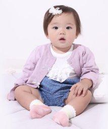 e-baby/ドットレーシー天竺リボンカーディガン/503049622