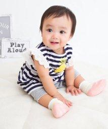e-baby/チュールフルーツボーダーカバーオール/503049637