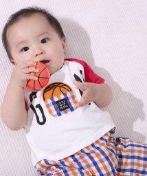 e-baby/天竺スポーツワッペンチェックロンパース/503049639