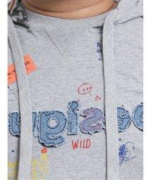 GRAND-BACK/【大きいサイズ】デシグアル/Desigual アーティモチーフ フード付きスウェットシャツ/503051108