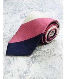 GRAND-BACK/【大きいサイズ】アレキサンダージュリアン/ALEXANDER JULIAN 日本製シルクストライプ レギュラーネクタイ8.5cm幅/503051381