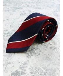 GRAND-BACK/【大きいサイズ】アレキサンダージュリアン/ALEXANDER JULIAN 日本製シルクストライプ レギュラーネクタイ8.5cm幅/503051383
