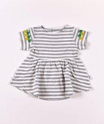 SLAP SLIP/袖パインレースボーダーTシャツ/503058128