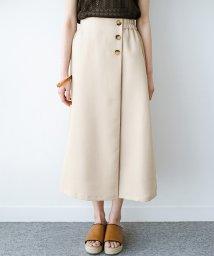haco!/これさえあればきれいなお姉さんになれそうな気がする 麻調素材のきれいめラップ風スカート/503115661