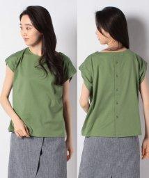 PREFERIR/フレンチマチ付き後ろ釦Tシャツ/503118321