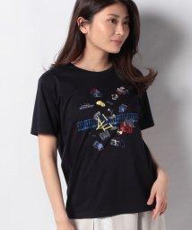 LA JOCONDE/【洗える】スーピマスムース ラメプリントTシャツ/503120901