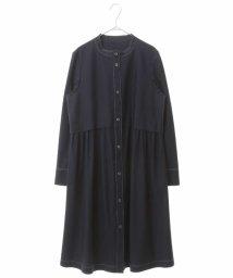 HIROKO BIS/【洗濯機で洗える】ノーカラーステッチコート/503129076