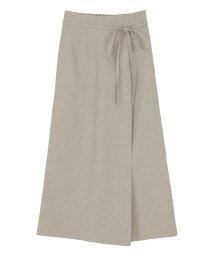 titivate/リネンライクラップAラインリボン付スカート/503129532