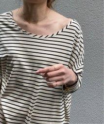 NOBLE/ソフトテンジクボーダーロングTシャツ◆/503129826
