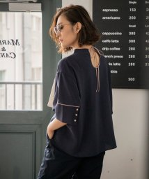 Emma Taylor/2FACE PIPING FLARE BLOUSE/503130012