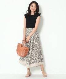 JUSGLITTY/【Marisol6月号掲載】カットワーク刺繍リネンスカート/503130098