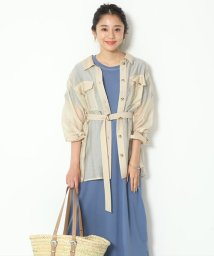 Mystrada/【STORY6・7月合併号掲載】 洗えるシースルーロングシャツ/503130228
