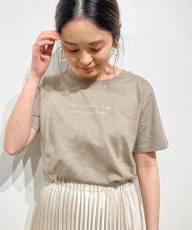 le.coeur blanc/PoemロゴプリントTシャツ/503019117