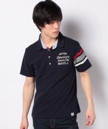 STYLEBLOCK/T/Cカノコ4ボタン袖ライン半袖ポロシャツ/503107325